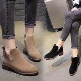 短靴女 馬丁靴女秋冬季新款英倫風粗跟短靴復古韓版百搭女靴春秋單靴 全館免運