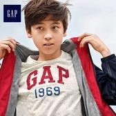 Gap男童 Logo印花撞色圓領短袖T恤 491324-白顏色