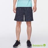 素色彈性短褲暗藍色-bossini男裝