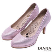DIANA-漫步雲端瞇眼美人-亮眼金蔥跟鞋-粉