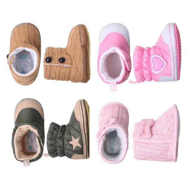 學步鞋 童鞋 嬰兒 短靴 軟底鞋 保暖鞋 男寶寶 女寶寶 Augelute 34101