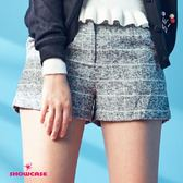 【SHOWCASE】氣質 格紋毛呢短褲(灰)