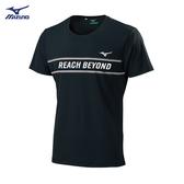 MIZUNO 美津濃 (男) 短袖T恤 運動T恤 熱遮蔽 抗紫外線-32TA900709 黑 [陽光樂活](A6)