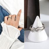 戒指 31款可選日韓潮人學生網紅情侶簡約個性?石開口關節戒指女食指戒指環戒子