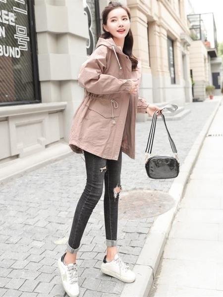 ★胖妹妹秋裝外套女新款韓版大碼胖mm寬鬆200斤學生減齡小個子風衣