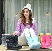 冬季男女防滑防水雪靴情侶棉靴子短筒加厚保暖雪地鞋中筒靴棉靴 SDN-0157