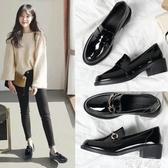 樂福鞋 女鞋2020新款潮春季百搭單鞋中跟工作英倫小皮鞋女10 唯伊時尚