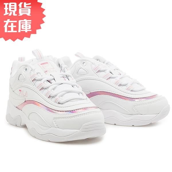 【現貨】FILA RAY 女鞋 老爹鞋 休閒 雷射 白 粉【運動世界】4-C101T-115 / 4-C114T-115