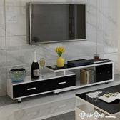 可伸縮電視櫃組合現代簡約客廳經濟型小戶型單個迷你省空間落地櫃QM 西城故事