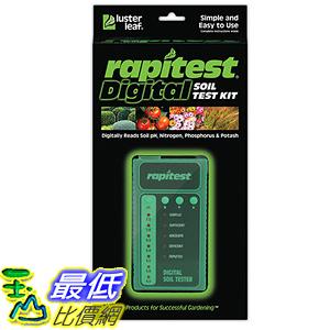 [美國直購] Luster Leaf 1605 Rapitest Digital Soil Testing Kit 檢測試劑盒