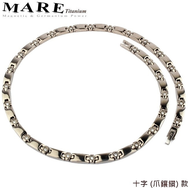【MARE-純鈦項鍊】系列:十字 (爪鑲鑽) 款