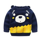 男寶寶毛衣全棉雙層毛線衣 兒童圓領毛衣