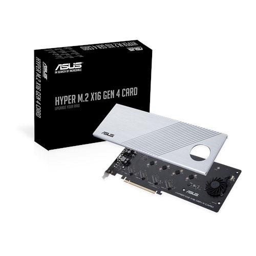 ASUS 華碩 HYPER M.2 X16 GEN 4 CARD 擴充轉接卡 TRX40/X570適用 PCIe 4.0 NVMe 最高256Gbps