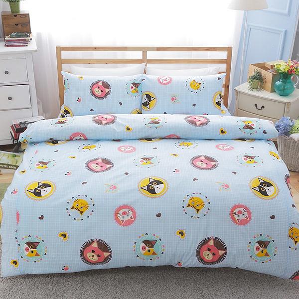 [Snug Nights]#TC033#高級精梳混紡棉3.5x6.2尺單人床包被套三件組