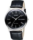ORIENT 東方 都會極簡羅馬石英腕錶-黑/40mm FUG1R008B