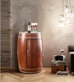 紅酒櫃 紅酒櫃恒溫酒櫃實木家用電子保鮮冷藏櫃酒桶小型冰箱紅酒櫃子     汪喵百貨