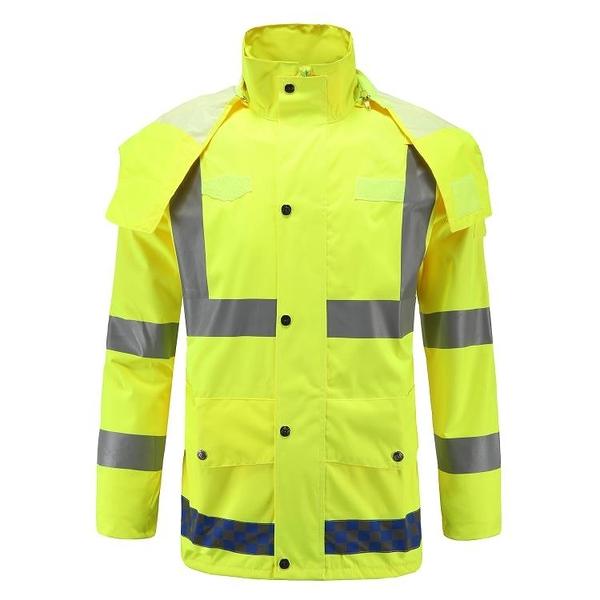 雨衣 成輝新款常規雨具交通戶外高速公路指揮反光牛津紡分體雨衣套裝 星河光年