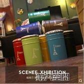 儲物凳 美式復古酒吧椅油桶凳油漆桶吧台凳子 圓形鐵皮桶儲物凳創意桶凳 第六空間 MKS