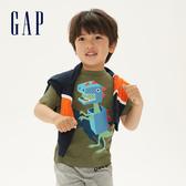 Gap 男幼童 棉質舒適圓領短袖T恤 544969-軍綠色