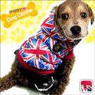 寵物衣│英國旗仿羽絨寵物服裝.秋冬保暖....