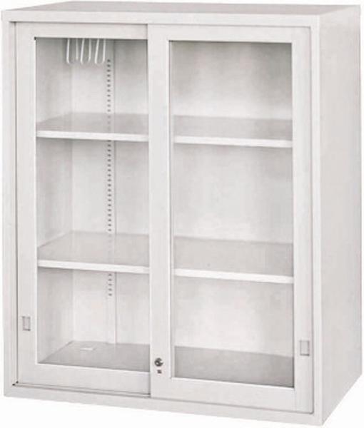 HY-708-5 玻璃加框拉門上置式公文櫃