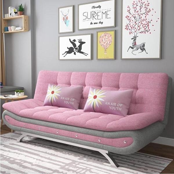 沙發床折疊多功能兩用布藝拆洗簡約現代網紅款乳膠雙人小戶型沙發 快速出貨
