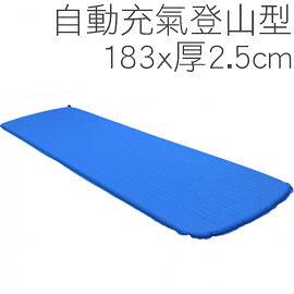 丹大戶外用品 50丹登山型自動充氣睡墊/快充吹嘴設計/台灣製造/附收納袋/顏色隨機出貨 183*2.5cm