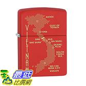 [美國直購] Zippo Lighter: Vietnam War Map - Red Matte 打火機