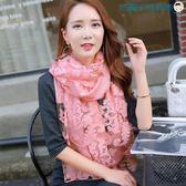 女士絲巾披肩兩用長款韓版方巾