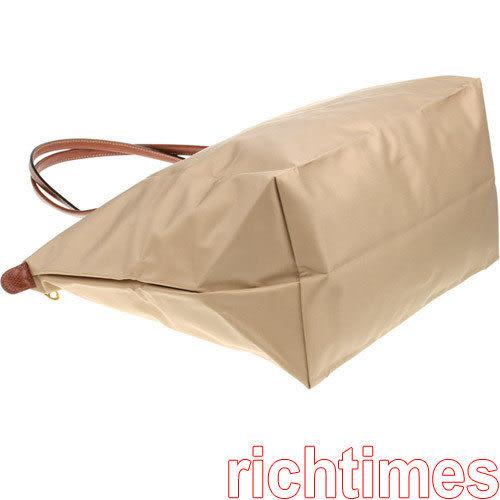 LONGCHAMP水餃大肩背包(卡其)LC089543