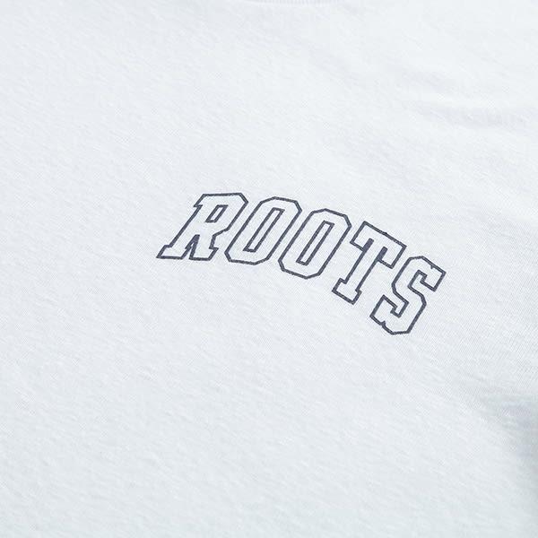 女裝Roots 線條短袖T恤 - 白色