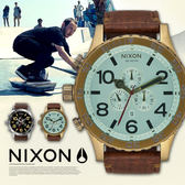 NIXON A124-2223 51-30 CHRONO LEATHER 霸氣三眼錶 熱賣中!