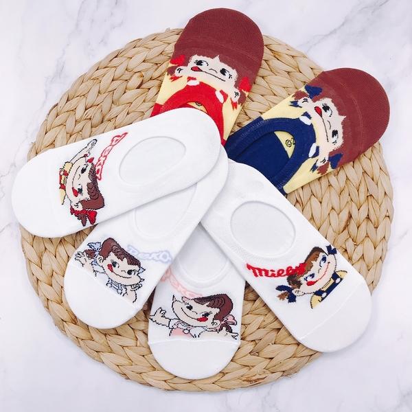 【花想容】牛奶妹 不二家 PEKO POKO 矽膠防滑隱形襪 船型襪 帆船襪