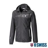 K-SWISS Fleece Jacket刷毛防風外套-女-黑