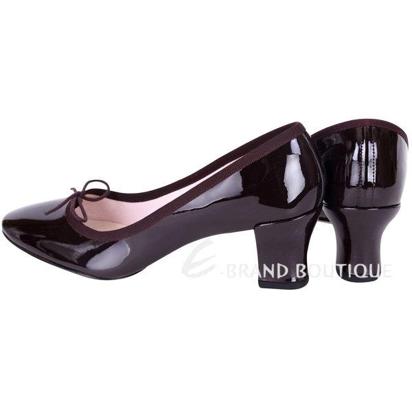 Repetto CLARA 漆皮蝴蝶結低跟鞋(深紫色) 1541074-B6