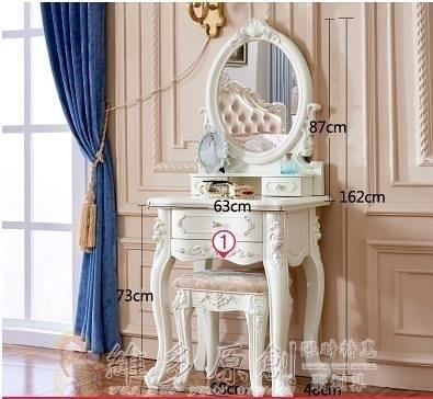 化妝櫃 歐式梳妝台臥室小戶型迷你化妝桌 多功能現代簡約化妝台白色烤漆 DF 維多原創