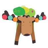 新加坡ORIBEL 創意壁貼玩具_麋鹿天秤