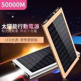 【现货499】行動電源-50000M太陽能智能超薄大毫安移動電源手機通用【太陽能充電】