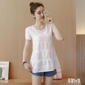 短袖2020夏季新款白色t恤女ins潮寬鬆韓版大碼棉麻遮肚上衣服體恤 HX5266【易購3C館】