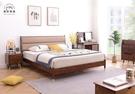 【新竹清祥傢俱】NBB-55BB05-北歐輕奢五尺靠墊床架 一般雙人 全實木 臥室 床框 日系 5*6 現代