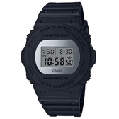 【CASIO】 G-SHOCK 經典個性圓形霧面銀鍍膜電子錶-銀面(DW-5700BBMA-1)