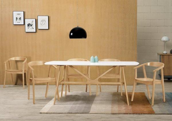 {{8號店鋪 森寶藝品傢俱}} a-01 品味生活 餐廳系列  956-1 耶魯6尺餐桌