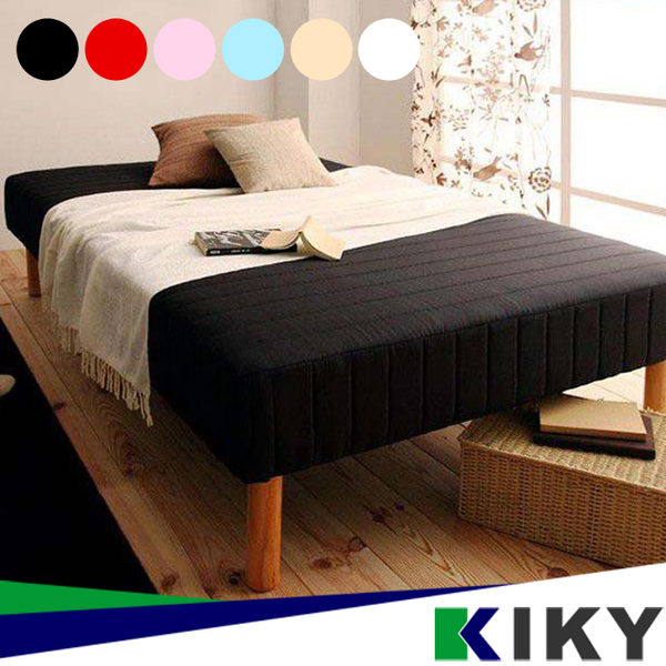 懶人床/單人加大3.5尺-【QQ高彈力】彈簧床墊+床架-六色可選~台灣自有品牌-KIKY~Q1