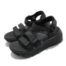 Skechers 涼鞋 Max Cushioning 女 全黑 厚底 增高 休閒鞋【ACS】 140218BBK