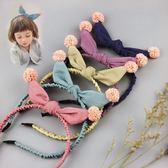 日韓女童髮箍髮卡甜美兒童可愛兔耳朵簡約米奇頭學生頭飾飾品髮繩