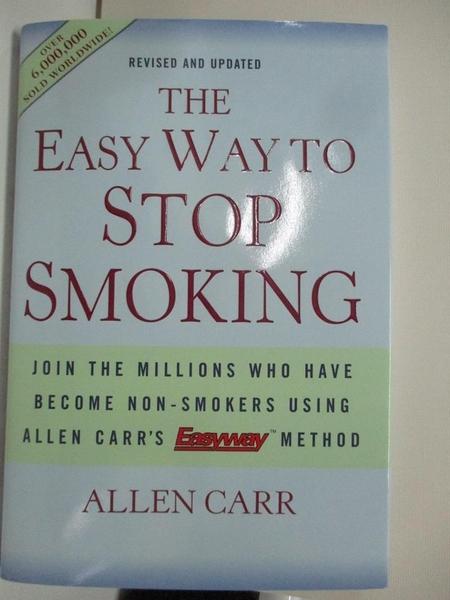 【書寶二手書T1/原文書_DNJ】The Easy Way to Stop Smoking_Carr, Allen