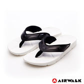 AIRWALK(男) - QQ彈力AB拖 舒適吸震耐磨止滑排水人字拖-滑水白