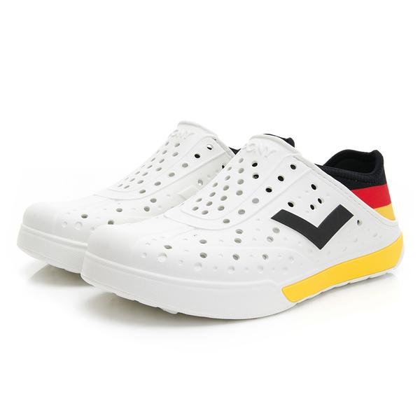 PONY 世界國旗德國 男女款黑黃紅三色洞洞水鞋-NO.02U1SA04BK