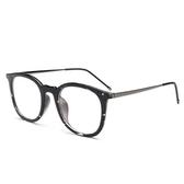 鏡架(圓框)-文藝復古簡約百搭男女平光眼鏡5色73oe75【巴黎精品】