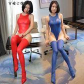 性感情趣內衣女激情套裝騷仿皮開襠式連體衣制服誘惑免脫挑逗用品